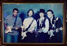 Rare Eric Clapton, Robt Cray, Stevie & Jimmy Vaughn Stratocaster Photograph