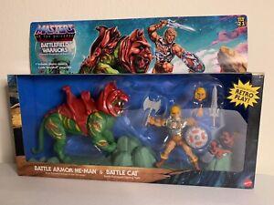 Masters Of The Universe Origins Battlefield Warriors He-Man And Battle Cat 🐱