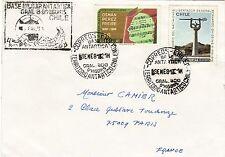 V119 enveloppe thème CHIEN cachet de BASE MILITAR ANTARTICA Gral B O'HIGGINS
