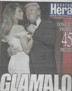 Boston Herald Newspaper President Donald Trump January 21 2017 Newsstand Edition