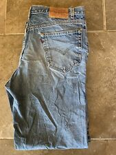Mens Levi Strauss Relaxed Straight Jean - W35 L32 - Light Blue