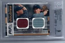 2003 UD Game Used Authentic Fabrics Doubles CARD #177/200 Tiger Woods BGS MINT 9
