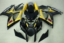 New ABS fairings fit for suzuki GSXR600 750 06-07 2006 2007 Yellow and black col