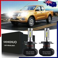 H4 LED Headlight Globe Lamp for Nissan Navara Patrol Pulsar Tiida White 6000K