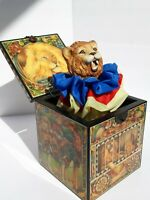 VINTAGE ENESCO MUSICAL JACK IN THE BOX ENTERTAINER LIMITED EDITION  FAITH WICK