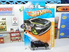 2011 Hot Wheels '11 Ken Block Ford Fiesta HB Race Car Black ERROR NO DECALS