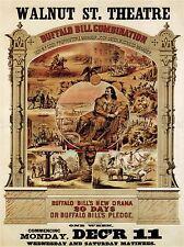 THEATRE BUFFALO BILL CODY WILD WEST LEGEND ICON USA ADVERT OLD POSTER 2097PYLV