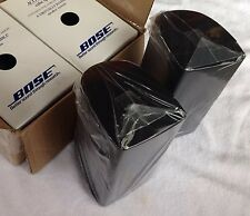 2 Bose Double Cube Speakers Black DoubleShot Direct Reflct Acoustimass Lifestyle