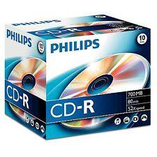 10x Philips CD-R 700MB 80MIN 52x Jewel case