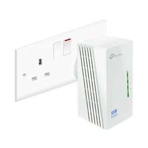 TP-Link TL-WPA4220 V4 300Mbps AV600 WiFi Powerline Range Extender Adapter UK
