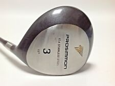GOLF 3 WOOD PROSIMMON 15 DEGREE LOFT RIGHT HAND REGULAR FLEX GRAPHITE SHAFT   hv