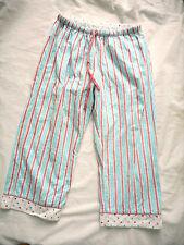 Ladies XS womens 3/4 pyjamas pyjama pants PJs flannelette pink white blue stripe