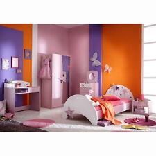 Kinderzimmer Set Fee Bett Kommoden Kleiderschrank Schreibtisch weiß flieder lila