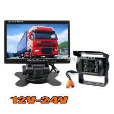 "18 LED IR Reverse Camera + 7"" LCD Car Rear View Monitor Kit For Bus Truck 12-24V"