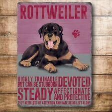 ROTTWEILER, Colourful Metal fridge magnet Sign, DOGS