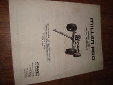 Miller Pro Running Gear 12.00030 Operators Manual