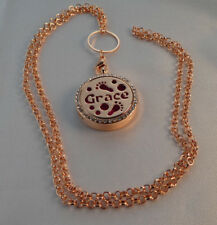Grace' Double Sided, Diffuser Necklace Locket Stainless Still 10ml Oil 11 Pads