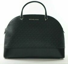 Michael Kors Emmy Extra Large Dome Satchel in Brown/Black.