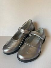 STRIDE RITE Womens Girls Blair Shoes  SILVER 3.5M