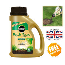 Miracle-Gro Patch Magic Grass Seed, Feed and Coir, Grow Grass 1015g Shaker Jar