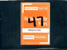 Robert Plant 1993 - Fundamentally Yours Tour - backstage pass working personnel