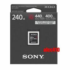 Sony 240GB XQD G-Series Memory Card QD-G240F Read 440MB/s Write 400MB/s 4K AU