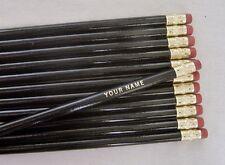 "12 Round ""Black"" Personalized Pencils"