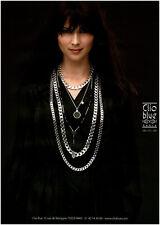 Publicité Contemporaine  Bijoux Clio Blue   2009   P 10
