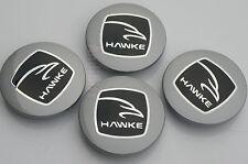 HAWKE RANGE ROVER SPORT VOGUE DISCOVERY SILVER  ALLOY WHEEL CENTRE CAPS HAWK