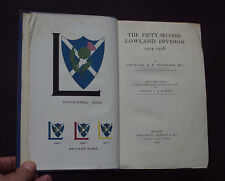 THE FIFTY-SECOND (LOWLAND) DIVISION 1914-1918 52nd Lowland Scottish Borders 1923
