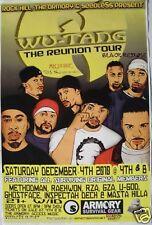 """WU-TANG CLAN 2010 """"REUNION TOUR"""" SAN DIEGO CONCERT POSTER - Hip Hop Legends"""