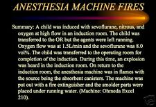 180 p. ANESTHESIA HOSPITAL FIRE SAFETY PowerPoint Presentation on CD