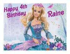 Barbie edible party cake topper edible cake image sheet decoration