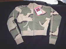 Womens Medium Sweatshirt Desert Camo Jacket Zip Sweatshirt Desert Storm Jacket