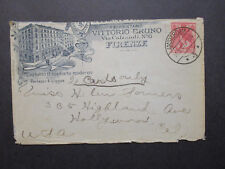 Netherlands 1907 Commercial Cachet Cover to USA / Hollywood CA Backstamp - Z7197