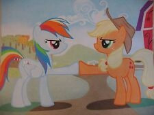 My Little Pony FiM - 'Fall Weather Friends' Applejack & Rainbow Dash Artwork