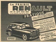 RENAULT PRAIRIE PUBLICITE 1952