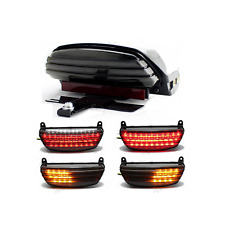 Tri Bar Fender LED Tail Turn signal Light Harley Softail CVO Springer FXST FXSTC