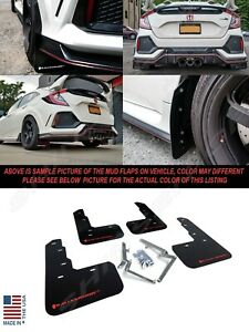 Rally Armor UR Black Mud Flaps w/ Red Logo for 2017-2021 Civic Type R FK8