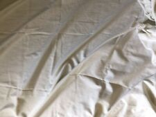 WHITE/WHITE STRIPE DOUBLE ELASTICATED COTTON FITTED SHEET BY JOHN LEWIS
