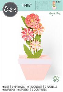 Sizzix Thinlits Plant Pot Pop-up Card 9PK #664360 Retail $29.99 by Georgie Evans
