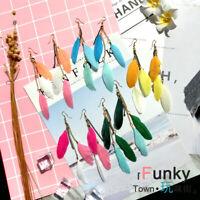 Women Girls Feather Long Design Handmade Drop Dangle Earrings Hook Jewelry Hot