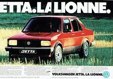 PUBLICITE ADVERTISING 027  1981  la Jetta Volkswagen (2p)  lionne