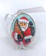CHRISTMAS ORNAMENTS: PETER PRIESS CHRISTMAS EGG; SANTA HOLDING CHRISTMAS TREE