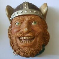 "Legend Products England Chalkware Head ""Viking"" Scandinavian"