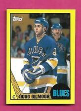 RARE 1987-88 TOPPS # E BLUES DOUG GILMOUR  BOX BOTTOM CARD (INV# D3024)