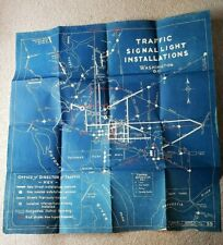 1928 Blueprint for Traffic Signal Light Installation in Washington, DC