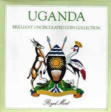 UGANDA BRILLIANT uncirculated COIN COLLECTION 1987 BY Royal Mint
