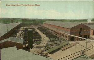 Quincy MA Fore River Ship Yards c1910 Postcard #4