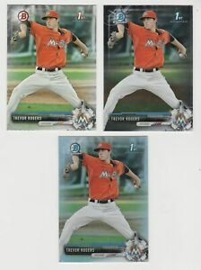 TREVOR ROGERS 2017 Bowman Draft Chrome Lot of 3 #BD-53 BDC-53 Base Chrome Ref